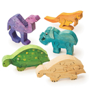 S&S Worldwide Unfinished Wooden Animal Puzzles - Safari Animals
