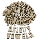 Wood Craft Vowel Letters