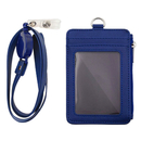 Badge Holder with Zipper, ID Card Holder Wallet with 5 Card Slots, 1 Side Pocket and 20
