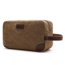 Vintage Canvas Travel Toiletry Bag Grooming Shaving Makeup Dopp Kit for Men Women