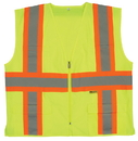 Safety Flag Class 2 Safety Vest With Contrasting Stripes