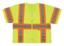 Safety Flag Class 3 Safety Vest With Contrasting Stripes