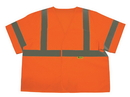 Safety Flag Class 3 Safety Vest With Silver Stripes