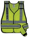 Safety Flag Public Safety Vest with Silver Stripes