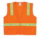 Safety Flag Surveyor's Vest with Contrasting Stripes