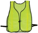 Safety Flag Vests - Economy Style 100% Polyester Mesh w/ Reflective Lime-Yellow