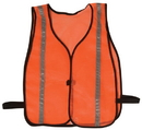 Safety Flag Vests - Economy Style 100% Polyester Mesh w/ Reflective Silver