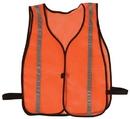 Safety Flag Vests - Economy Style 100% Polyester Mesh w/ Reflective Silver