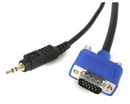Startech 6 ft Coax High Resolution Monitor VGA Cable w/ Audio - HD15 M/M