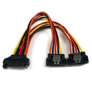 Startech PYO2LSATA 6in Latching SATA Power Y Splitter Cable Adapter - M/F
