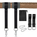 Muka 2 PCS Tree Swing Straps, 5 ft Tree Swing Hanging Kit Hold 2000 lbs with 2 Tree Protector Sleeves, 2 Strong Carbines & Carry Bag, Perfect for Hammocks, Tree Swing and Swing