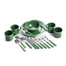 Stansport 11220-10 24-Piece Green Enamel Camping Tableware Set