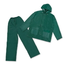 Stansport 2017-G-L PVC Rain Suit With PVC Back - GREEN - L