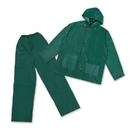 Stansport 2017-G-XL PVC Rain Suit With PVC Back - GREEN - XL