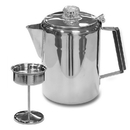 Stansport 276-9 9-Cup Stainless Steel Percolator Coffee Pot