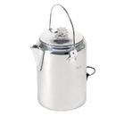 Stansport 277 Aluminum Percolator Coffee Pot- 9 Cup