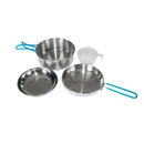 Stansport 361-100 One Person Stainless Steel Cook Set