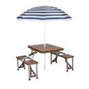 Stansport 615-45 Portable Combo Picnic Table & Umbrella