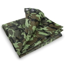 Stansport T-810-C Rip Stop Tarp - 8 Ft X 10 Ft - Woodland Camo