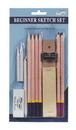 Pro Art PRO 3074 Beginners Sketch Set - 11Pc