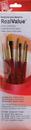 Princeton Brush 9123 Princeton 9123 Golden Taklon Brush Set - 4Pc