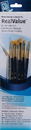 Princeton Brush 9133 Princeton 9133 Golden Taklon Brush Set - 6Pc