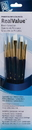 Princeton Brush 9136 Princeton 9136 White Taklon Brush Set - 5Pc