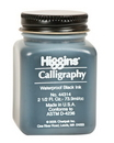 Grumbacher 44314 Higgins Waterproof Black Calligraphy Ink - 2.5Oz
