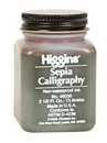 Grumbacher 46036 Higgins Sepia Calligraphy Ink - 2.5Oz