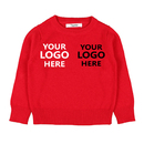 Customized Embroidery Toddler Cotton Sweater Pullover For Baby Boys Girls
