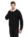 TOPTIE Men's Business Cotton Long Sleeve Sweater Pullover Regular Fit