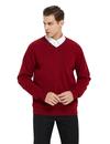 TOPTIE Men's Pullover Sweater Long Sleeve Slim Fit V-Neck