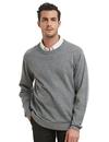 TOPTIE Men's Winter Sweaters Solid Color Crew Neck