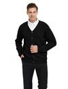TOPTIE Men's Business Knitting Sweater Cardigan Fashion Warm Coat Jacket