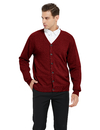 TOPTIE Men's Sweater Cardigan Casual Fit V-Neck Cotton