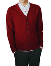 Wholesale TOPTIE Men's Casual Fit V-Neck Cotton Sweater Cardigan