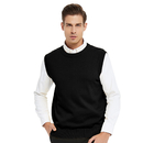 TOPTIE Men's Business Sweater Vest Cotton Jumper Top