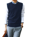 TOPTIE Men's Business Sweater Vest Cotton Jumper Top