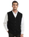 TOPTIE Mens Sweater Vest Solid Knitted Lightweight Thermal Cardigan