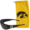 Siskiyou Buckle Iowa Hawkeyes Chrome Wrap Sunglasses and Bag, 2CCP52EB