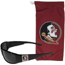 Siskiyou Buckle Florida St. Seminoles Chrome Wrap Sunglasses and Bag, 2CCP7EB