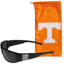 Siskiyou Buckle Tennessee Volunteers Etched Chrome Wrap Sunglasses and Bag, 2CCW25EB