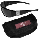 Siskiyou Buckle Texas A & M Aggies Chrome Wrap Sunglasses and Zippered Carrying Case, 2CCW26HC