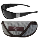 Siskiyou Buckle Texas A & M Aggies Chrome Wrap Sunglasses and Sport Carrying Case, 2CCW26SC