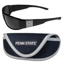 Siskiyou Buckle Penn St. Nittany Lions Chrome Wrap Sunglasses and Sport Carrying Case, 2CCW27SC