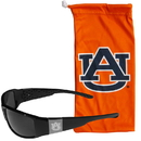 Siskiyou Buckle Auburn Tigers Etched Chrome Wrap Sunglasses and Bag, 2CCW42EB