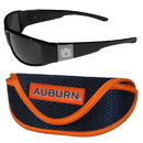 Siskiyou Buckle Auburn Tigers Chrome Wrap Sunglasses and Sport Carrying Case, 2CCW42SC