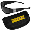 Siskiyou Buckle LSU Tigers Chrome Wrap Sunglasses and Zippered Carrying Case, 2CCW43HC