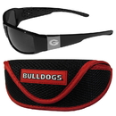 Siskiyou Buckle Georgia Bulldogs Chrome Wrap Sunglasses and Sport Carrying Case, 2CCW5SC