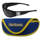 Siskiyou Buckle W. Virginia Mountaineers Chrome Wrap Sunglasses and Sport Carrying Case, 2CCW60SC